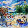 No Worries Mon. original available by Lalita L. Cofer Signed limited edition prints are available, please use the Pay Pal button on the page to purchase and then email the artist with the title of the print you wish to have sent to you.