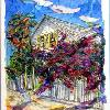 HARBOR ISLAND IN BLOOM, the Bahamas by Lalita L. Cofer original sold -  Signed limited edition prints are available, please use the Pay Pal button on the page to purchase and then email the artist with the title of the print you wish to have sent to you.
