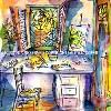 The Studio Cantata, original available, painting  by Lalita L. Cofer Signed limited edition prints are available, please use the Pay Pal button on the page to purchase and then email the artist with the title of the print you wish to have sent to you.