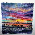 SILHOUETTES IN THE AFTERGLOW original 12x12 inches gallery wrap canvas