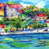 The Carenage, St. George, Island of Grenada, original sold by Lalita L. Cofer -signed limited edition print  includes shipping $69.00